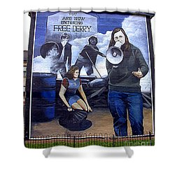 Bernadette Devlin Mural Shower Curtain