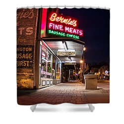 Bernies Fine Meats Signage Shower Curtain