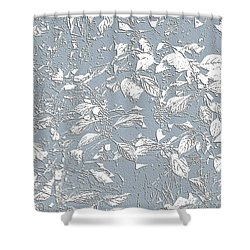 Berry Branch Blue Shower Curtain by Ellen O'Reilly