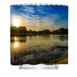 Berry Creek Pond Shower Curtain