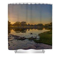 Berry Creek Sun Set Shower Curtain
