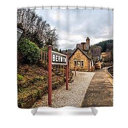 Berwyn Station Shower Curtain by Adrian Evans