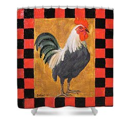 Beryl's Rooster Shower Curtain