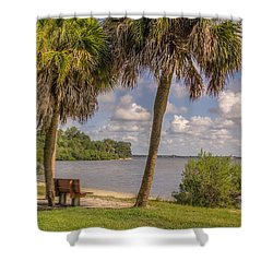 Shower Curtain featuring the photograph Beside The Shore by Jane Luxton