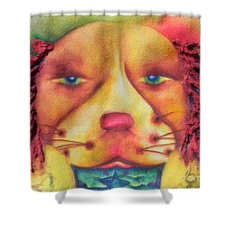 Best Dog In Show With Dog A Tude Two Shower Curtain by Chrisann Ellis
