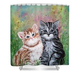 Best Friends Shower Curtain by Dani Abbott