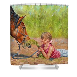 Best Friends Shower Curtain by David Stribbling