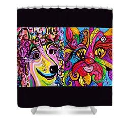 Best Friends Shower Curtain by Eloise Schneider
