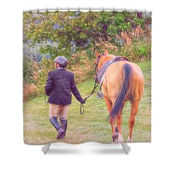 Best Friends Shower Curtain by Karol Livote