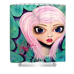 Shower Curtain featuring the painting Best Friends by Oddball Art Co by Lizzy Love
