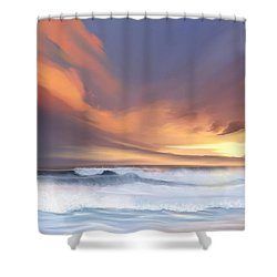 Shower Curtain featuring the digital art Best Of Days by Anthony Fishburne