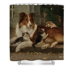 Best Of Friends Shower Curtain by Wilhelm Schwar