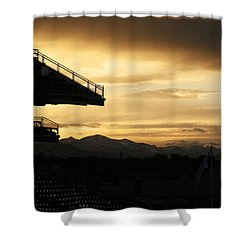 Best View Of All - Rockies Stadium Shower Curtain by Marilyn Hunt