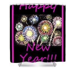 Best Wishes And Happy New Year Shower Curtain by Irina Sztukowski