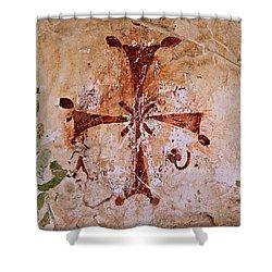 Bet She'an Christian Fresco  Shower Curtain by Stephen Stookey