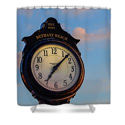 Bethany Beach Clock Shower Curtain