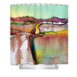 Shower Curtain featuring the painting Bethel Road by Teresa Ascone