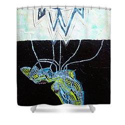 Bethlehem And Mary Shower Curtain by Gloria Ssali