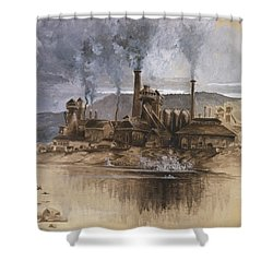 Bethlehem Steel Corporation Circa 1881 Shower Curtain by Aged Pixel
