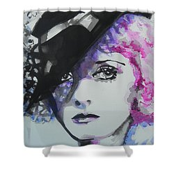 Bette Davis 02 Shower Curtain by Chrisann Ellis