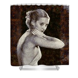 Shower Curtain featuring the painting Bette Davis Eyes by Elizabeth Coats