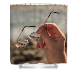 Better To See With Shower Curtain by Karol Livote