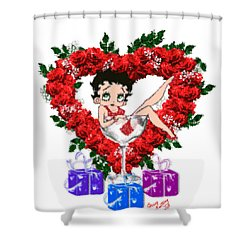 Betty Boop 4 Shower Curtain