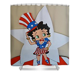 Betty Boop Celibrating The 4th O July Shower Curtain