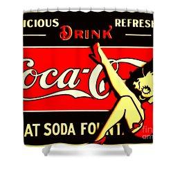Betty Boop On Coke Shower Curtain