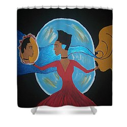 Between Dimensions Shower Curtain