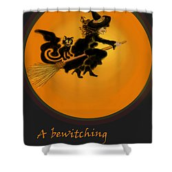 Betwitched Shower Curtain by Carol Jacobs