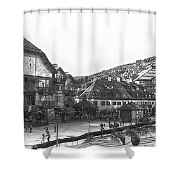 Bever Creek Skating Rink Shower Curtain