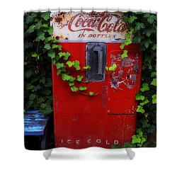 Austin Texas - Coca Cola Vending Machine - Luther Fine Art Shower Curtain