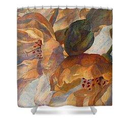 Bev's Blossoms Shower Curtain by Deborah Younglao