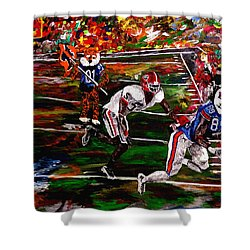 Beware Of The Tiger - Auburn Vs Georgia Football Shower Curtain by Mark Moore