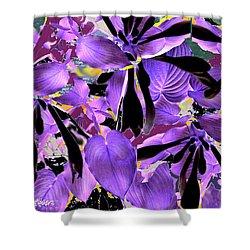 Shower Curtain featuring the digital art Beware The Midnight Garden by Seth Weaver