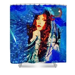Bewitched In Blue Shower Curtain