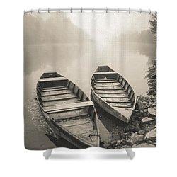 Beynac Boats Shower Curtain