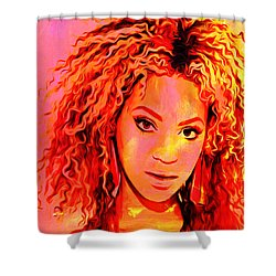 Shower Curtain featuring the painting Beyonce by Brian Reaves