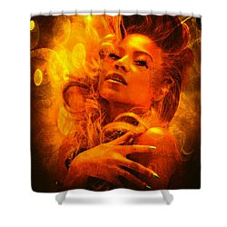 Beyonce Knowles Wrapped In Chocolate - Featured In Comfortable Art Group Shower Curtain by EricaMaxine  Price
