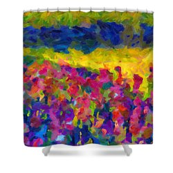 Shower Curtain featuring the painting Beyond A Simple Love by Joe Misrasi