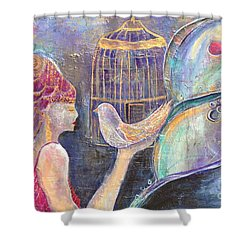 Beyond Gilded Cages Shower Curtain