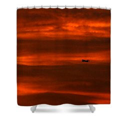 Beyond Now By Denise Dube Shower Curtain