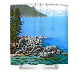Beyond Secret Cove Shower Curtain
