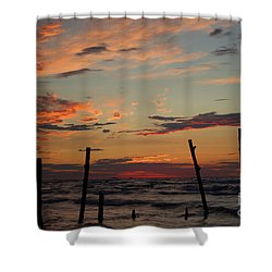 Shower Curtain featuring the photograph Beyond The Border by Barbara McMahon