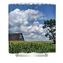 Beyond The Corn Shower Curtain by Nikolyn McDonald