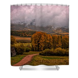 Shower Curtain featuring the photograph Beyond The Road by Ken Smith