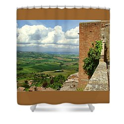 Beyond The Rooftops 2 Shower Curtain by Ellen Henneke