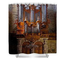Beziers Pipe Organ Shower Curtain