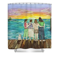 Bff Morning Shower Curtain